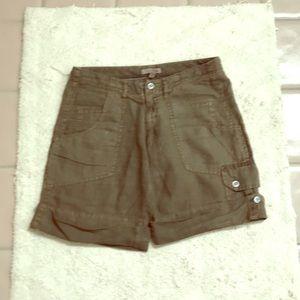 Joie olive khaki shorts